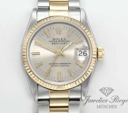 Rolex Medium Datejust 31 mm Stahl Gelbgold 750 Automatik Gold Damen Lady