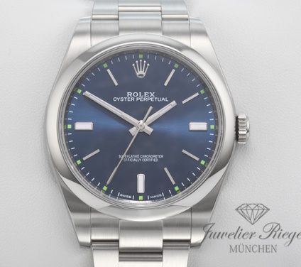 Rolex Oyster Perpetual 39 mm 114300 Edelstahl 2018 LC100 Automatik Stahl