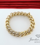 EXKLUSIVES ARMBAND GELBGOLD 750 DIAMANTEN ZUS.CA. 7 CT. BRILLANTEN GOLD