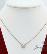 VAN CLEEF & ARPELS FLEURETTE COLLIER GELBGOLD 750 DIAMANTEN BRILLANTEN GOLD