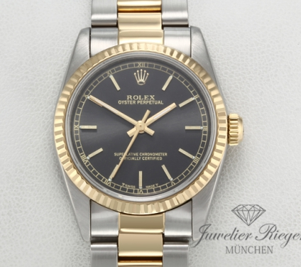 Rolex Oyster Perpetual 31 mm Medium Stahl Gelbgold 750 Automatik Gold