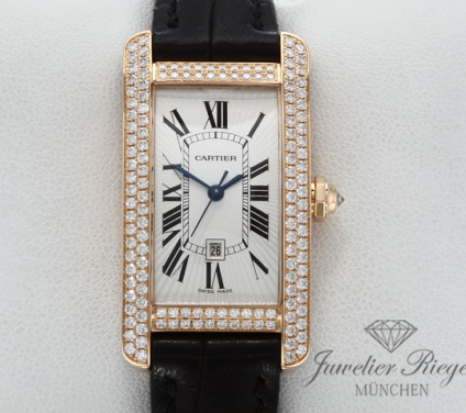 Cartier Tank Americaine MM Medium Rosegold 750 Diamanten WB704751 Automatik Gold