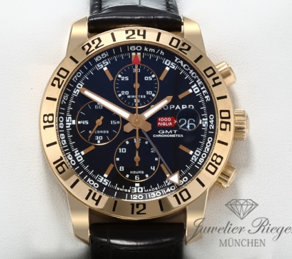 Chopard Mille Miglia Chronograph GMT Rosegold 750 16/1267 Automatik Gold