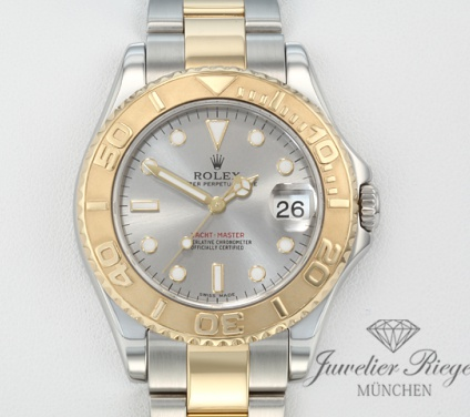 Rolex Yachtmaster Medium 35 mm 168623 Stahl Gelbgold 750 Automatik Gold lady