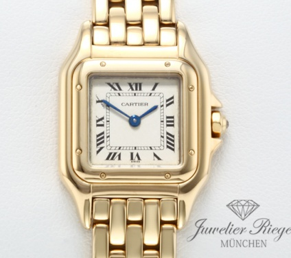 Cartier Lady Panthere Gelbgold 750 Damen Gold Damenuhr